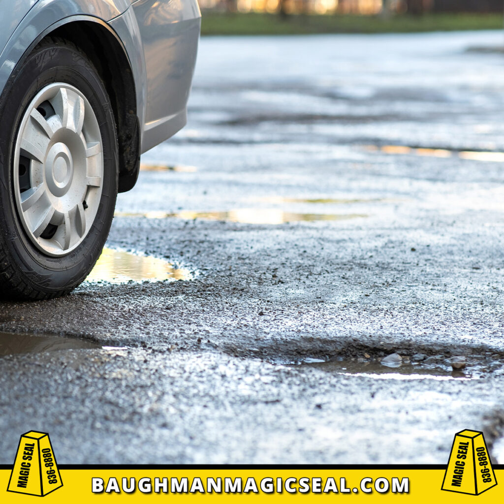 If your parking lot has #cracks, #potholes or other issues...